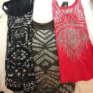 (3) Express sequence tank tops